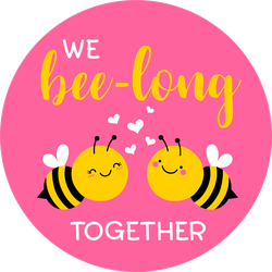 We Bee-long Together Sticker