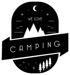 We Love Camping Sticker