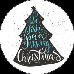 We Wish You A Merry Christmas Tree Sticker