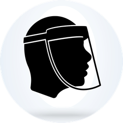 Wear a Face Shield Icon Sticker