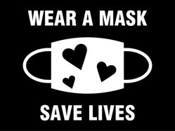 Wear a Mask Save Lives Sticker