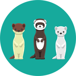 Weasel Mink Ferret Doll Set Cartoon Sticker