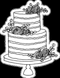 Wedding Cake Sketch Sticker