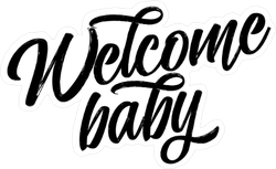 Welcome Baby Sticker