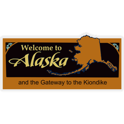 Welcome To Alaska Sign Sticker