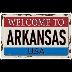 Welcome To Arkansas USA Vintage Sticker