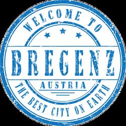 Welcome To Bregenz Austria Stamp Sticker