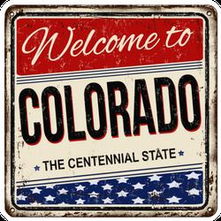 Welcome To Colorado Vintage Sticker