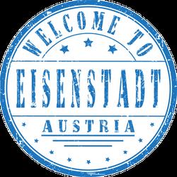 Welcome To Eisenstadt Austria Stamp Sticker
