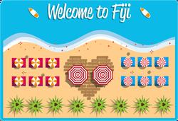 Welcome To Fiji Postcard Sticker