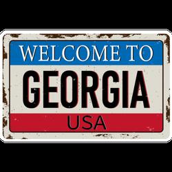 Welcome To Georgia USA Vintage Rusty Sticker