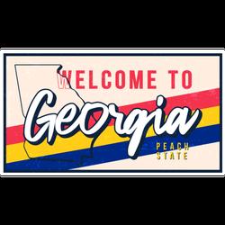 Welcome To Georgia Vintage Peach State Sticker