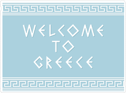 Welcome To Greece Sticker