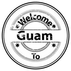 Welcome To Guam Country Grunge Stamp Sticker