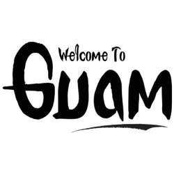 Welcome To Guam Handwritten Sticker