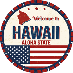 Welcome To Hawaii Aloha State US Sticker