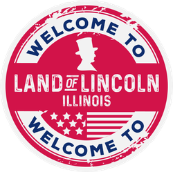 Welcome To Illinois Land Of Lincoln Sticker
