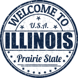 Welcome To Illinois Stamp Sticker