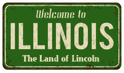 Welcome To Illinois The Land Of Lincoln Sticker