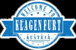 Welcome To Klagenfurt, Austria Ribbon Stamp Sticker