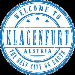 Welcome To Klagenfurt, Austria Stamp Sticker