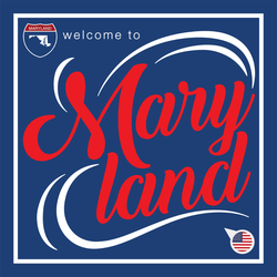Welcome To Maryland Sticker