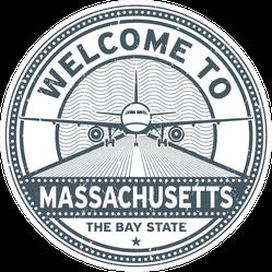 Welcome To Massachusetts Sticker