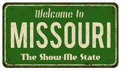 Welcome To Missouri Metal Sign Sticker