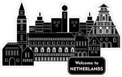 Welcome To Netherlands Buildings Sticker