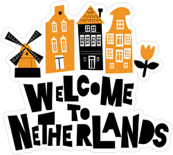 Welcome To Netherlands Sticker