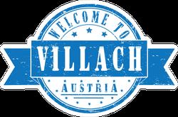Welcome To Villach Austria Ribbon Stamp Sticker