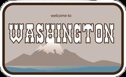 Welcome To Washington Sticker