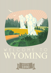 Welcome To Wyoming Sticker
