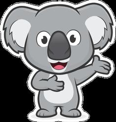 Welcoming Koala Sticker