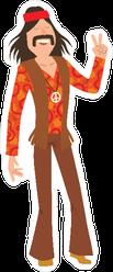 Well Dressed Hippie Man Sticker