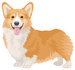 Welsh Corgi Dog Sticker