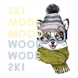 Welsh Corgi Ski Dog Sticker