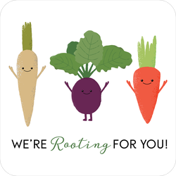 We're Rooting For You! Funny Veggie Sticker