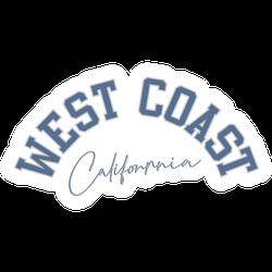West Coast California College Lettering Sticker