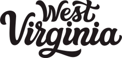West Virginia Calligraphy Sticker