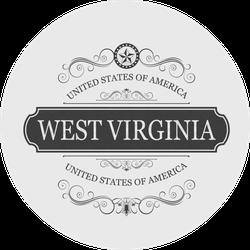 West Virginia Classical Sticker