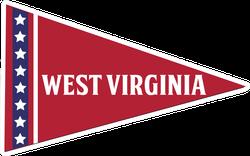 West Virginia Pennant Sticker