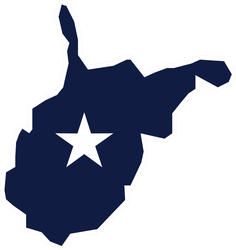 West Virginia State Shape Sticker