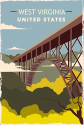 West Virginia Travel Sticker