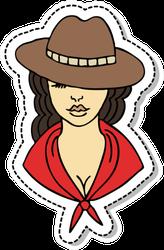 Western Cowgirl Sticker