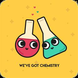 Weve Got Chemistry Sticker