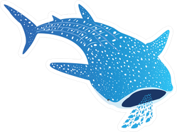 Whale Shark Eating Fish Sticker