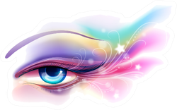 Whimsical Eye Makeup Sticker