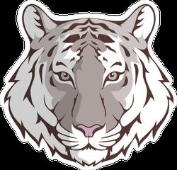 White Bengal Tiger Head Sticker