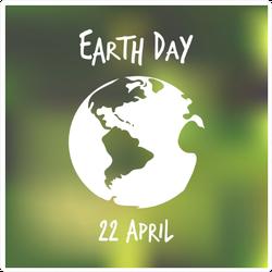 White Earth Globe Blured Sticker